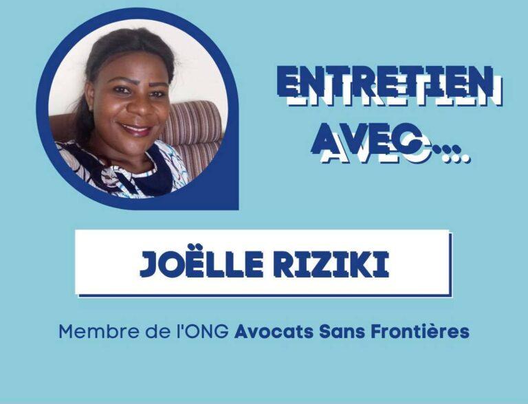 Joëlle Riziki Entretien RDC